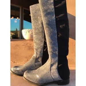 Unisa SPARKLY Gillean over the knee boot! 🔥